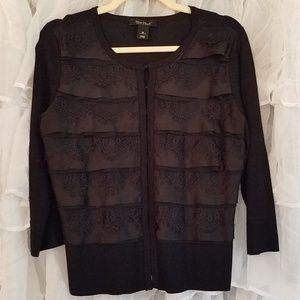 White House Black Market ruffle sweater